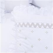 Almofadas Decorativas Marselle Cáqui com Inicial do Nome Personalizada