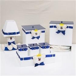 Kit Higiene Urso Príncipe com Passa Fita Marinho