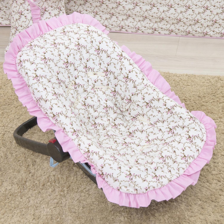 Capa de Bebê Conforto Carinha de Anjo Rosa