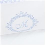 Kit Cama Babá Marselle Azul com Inicial do Nome Personalizada