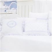 Almofadas Decorativas Marselle Azul com Inicial do Nome Personalizada