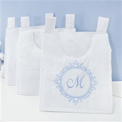 Porta Fraldas Varão Marselle Azul com Inicial do Nome Personalizada