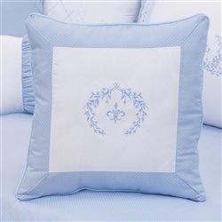 Almofada Bordada Versailles Azul