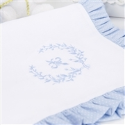 Manta Versailles Azul