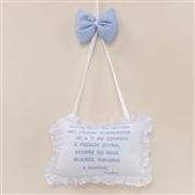 Enfeite Oração Santo Anjo Versailles Azul