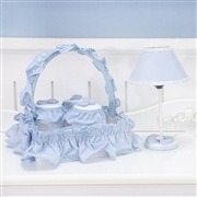Quarto para Bebê sem Cama Babá Versailles Azul