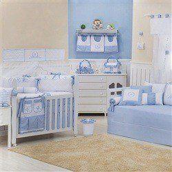 Quarto para Bebê Versailles Azul