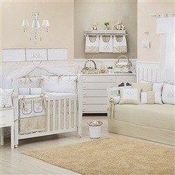 Quarto para Bebê Versailles Cáqui
