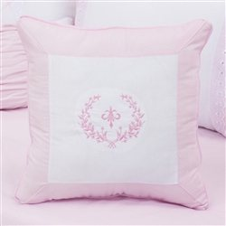 Almofada Bordada Versailles Rosa