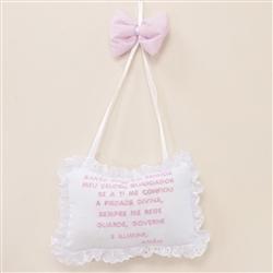 Enfeite Oração Santo Anjo Versailles Rosa