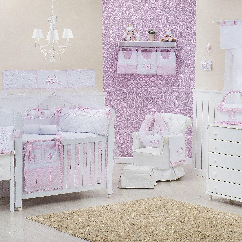 Quarto para Bebê sem Cama Babá Versailles Rosa