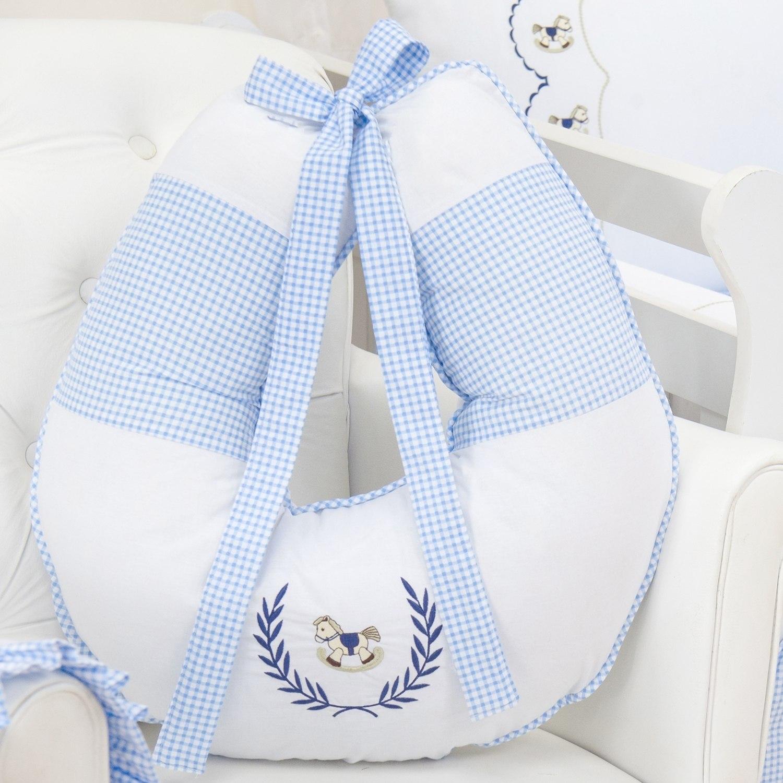 Almofada para Amamentação Cavalinho Azul