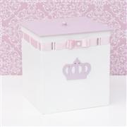 Kit Higiene Coroa Lilás com Passa Fita Rosa