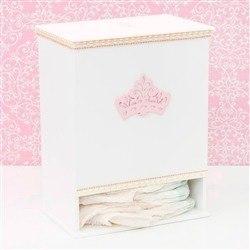 Porta Fraldas Realeza Rosê com Pérolas