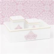 Kit Higiene Realeza Rosê com Pérolas