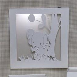 Quadro Led Savannah Palha Elefante