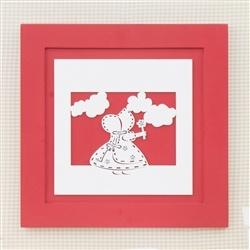 Quadro Decorativo Camponesa Flower Vermelha