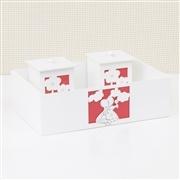 Kit Higiene Completo Camponesa Flower Vermelha