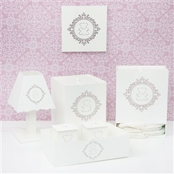 Kit Higiene Com Quadro Decorativo Harry Rosa