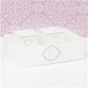 Kit Higiene Com Quadro Decorativo Harry Rosa