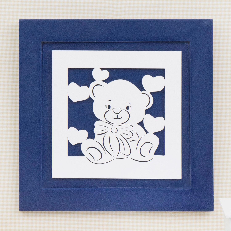 Quadro Decorativo Love Baby Marinho