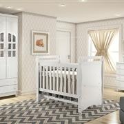 Quarto para Bebê Luxo com Berço/Cômoda/Guarda Roupas de 3 Portas