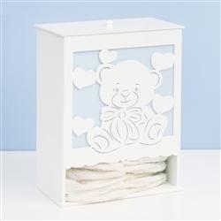Porta Fraldas Love Baby Azul