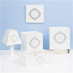 Kit Higiene com Quadro Decorativo Harry Azul