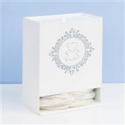 Kit Higiene com Quadro Decorativo Harry Azul