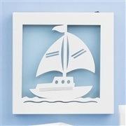 Quadro Led Baby Boy Navy Azul