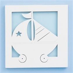 Quadro Decorativo Barquinho Baby Boy Navy Azul