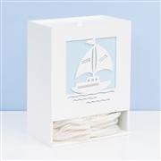 Kit Higiene com Quadro Led Baby Boy Navy Azul
