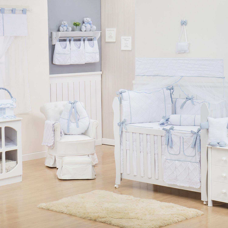 Quarto para Bebê sem Cama Babá Lorenza Azul