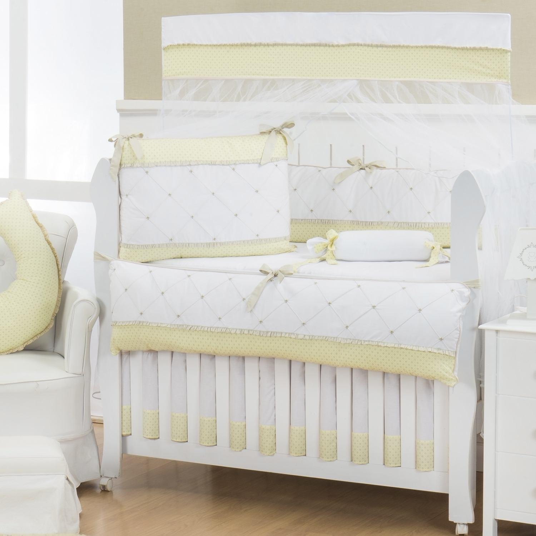 Quarto Econômico para Bebê sem Cama Babá Flor de Lys Amarelo