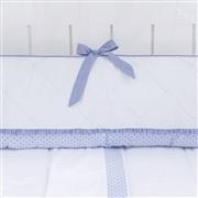 Kit Berço Flor de Lys Azul Bebê