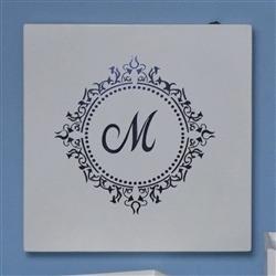 Quadro Led Marselle Marinho com Inicial do Nome Personalizada