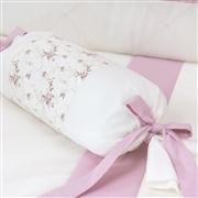 Almofada Apoio Bala Glamour Floral Rosê