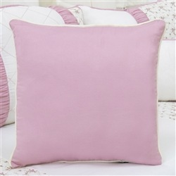 Almofada Lisa Glamour Floral Rosê