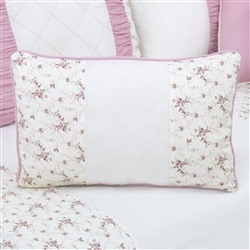 Almofada Retangular Glamour Floral Rosê