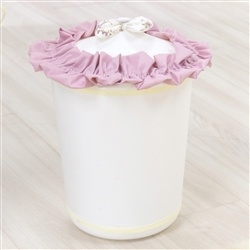 Lixeira Glamour Floral Rosê