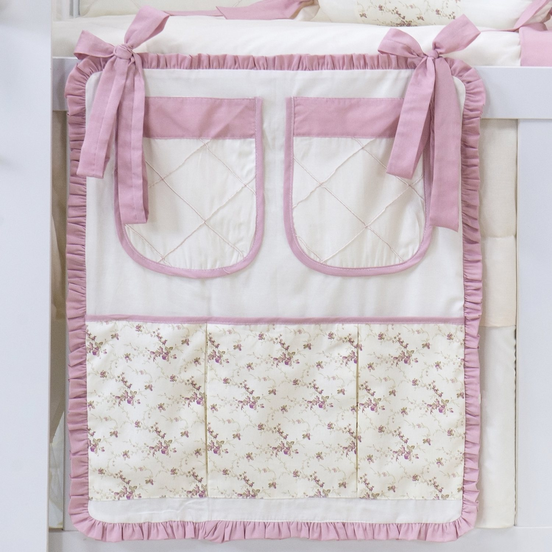 Porta Treco Glamour Floral Rosê