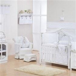 Quarto para Bebê sem Cama Babá Lorenza Cáqui