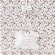 Enfeite Oração Santo Anjo Glamour Floral Rosê