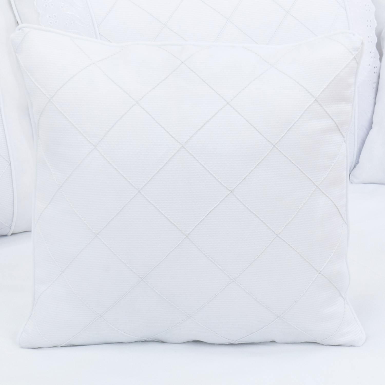 Almofada Nervura Lorenza Branco