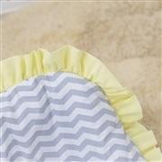 Capa de Bebê Conforto Brooklin Chevron Amarelo