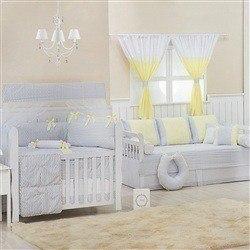 Quarto para Bebê Brooklin Chevron Amarelo