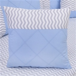 Almofada Decorativa Quadrada Brooklin Chevron Azul