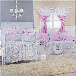 Quarto para Bebê Brooklin Chevron Rosa
