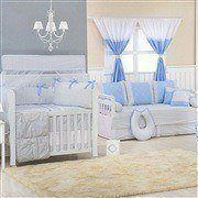 Quarto para Bebê Brooklin Chevron Azul
