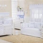 Quarto para Bebê Marselle Azul com Inicial do Nome Personalizada